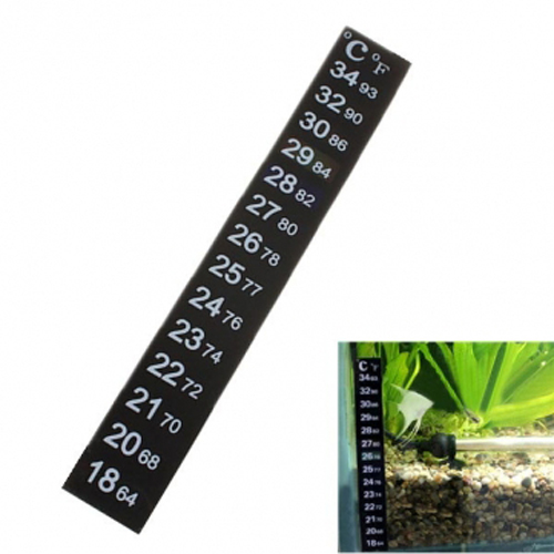Lcd Stick On Adhesive Strip Flat Thermometer For Fish Tank